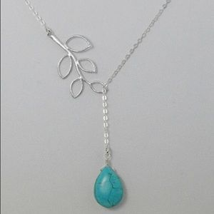 Drop Necklace Turquoise and Silver